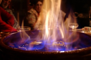 Cremat -  a traditional Catalan drink made of spiced rum, and served to your table in flames