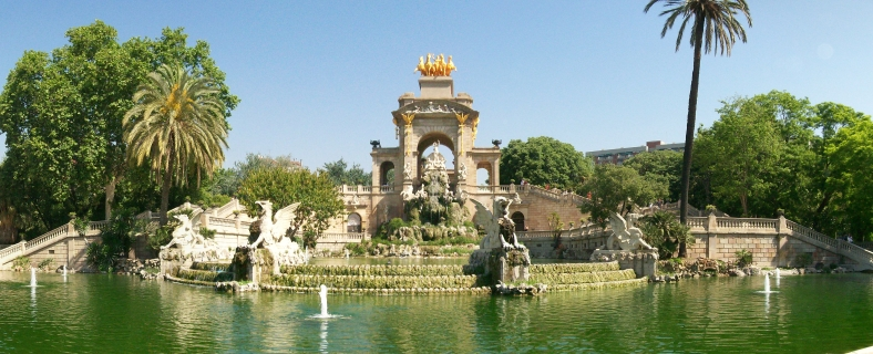 Supposedly one of Gaudí's first pieces of art for the city - the fountain at beautiful Ciutadella Park