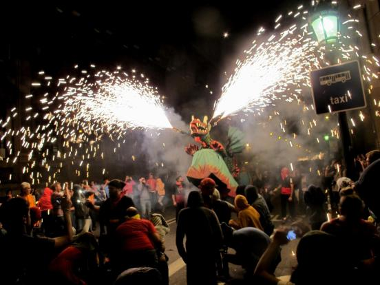 Wild creatures spit fire at the Correfoc - make sure you bring a hat and wear long sleeves.