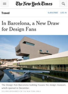 The New York Times: In Barcelona. A New Draw for Design Fans